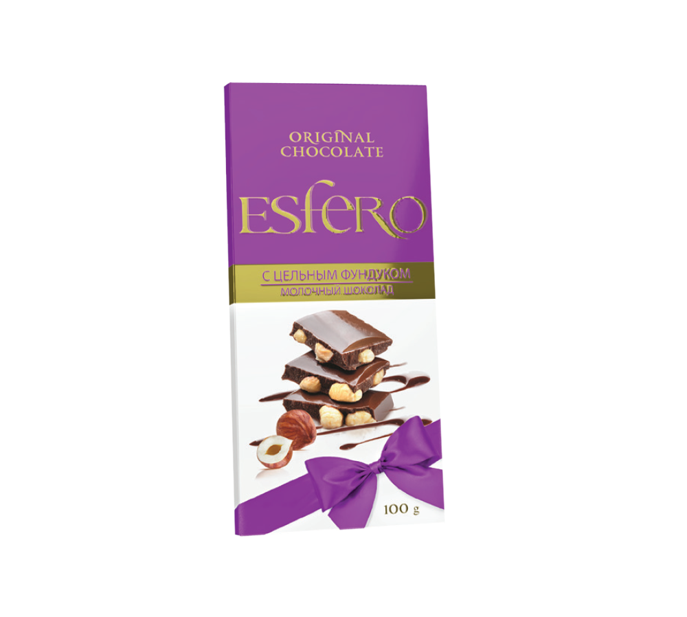 «Esfero» с цельным фундуком» молочный
